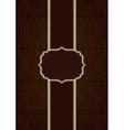 Brown elegant decorative background vector image