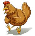 Brown fat hen vector image