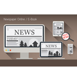 Computer News and Newspaper E-Book vector image