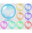 Set of transparent glass spheres vector image