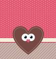cute valentine design vector image vector image