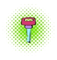 Ignition key icon comics style vector image