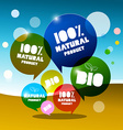 BIO - 100 Natural Bubbles on Abstract Landscape vector image