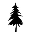 christmas tree with highly details vector image