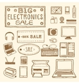 electronics sale vector image