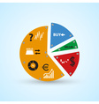 infographics symbols in big colorful circle graph vector image