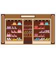 Shop of shoe vector image