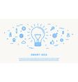 smart idea thin line design vector image