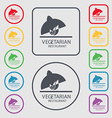 vegetarian restaurant icon sign symbol on the vector image