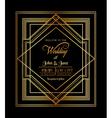 Wedding Invitation Card - Art Deco Gatsby Style Vector Image