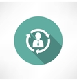 Businesspeople icon - relationship concept vector image vector image