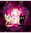 Cats falling in love vector image