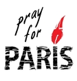 Paris and candle for a prayer vector image
