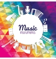 Icon set of Music instrument graphic vector image