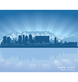 Cape Town South Africa skyline vector image