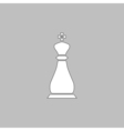 Chess king computer symbol vector image