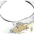 Dreaming dog vector image