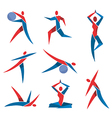 Fitness yoga icons vector image