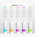 infographic columns vector image