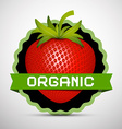 Organic Label with Strawberry vector image
