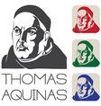 Thomas Aquinas vector image