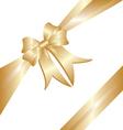 Gold ribbon Christmas gift vector image vector image