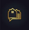 house data technology gold logo vector image