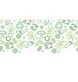 Ecology symbols horizontal seamless pattern vector image