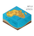 flat 3d isometric africa map constructor elements vector image vector image