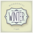 Winter vintage plate vector image