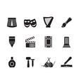 Silhouette Different kind of art icons vector image