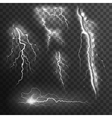 Lightning Black White Set vector image