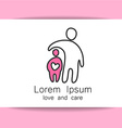 love care logo vector image vector image