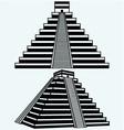 Pyramids in central mexico vector image vector image