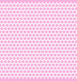 Abstract pink white star seamless pattern vector image