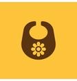 Bib icon design Breastplate and apron Bib vector image