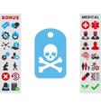 Death Sticker Icon vector image
