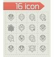 Internet icon set vector image