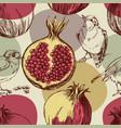 pomegranate pattern cute seamless pattern vector image
