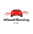 Red car emblem vector image