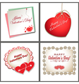 set of cards with hearts vector image