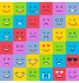 Set of colored emoticons vector image
