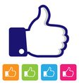 thumbs up like symbol vector image