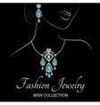 Woman with jewelry vector image
