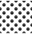 Evil smiley pattern simple style vector image