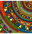 Colored tribal design vector image