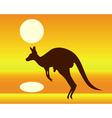 silhouette of a kangaroo vector image vector image