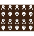 Smiled location icons vector image