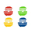 Colorful round paint stains for your text vector image