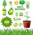 ecology elements set vector image